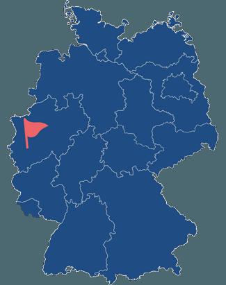 Standort der SDG Kunststoffe GmbH & Co. KG auf einer Karte der Bundesrepublik Deutschland.