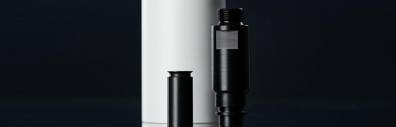 Distanzhülsen und Abstandshalter, aus verschiedenen Kunststoffen wie Polyamid (PA), Polyacetal (POM).